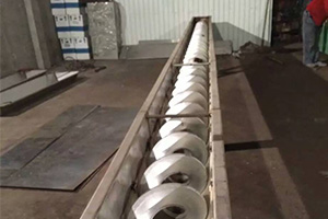 Stainless steel shaftless screw conveyor